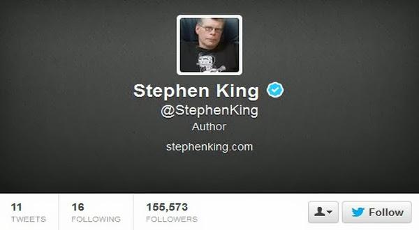 Stephen King Kini Memiliki Akun Twitter