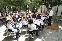 La banda de música actuó en Cuéllar