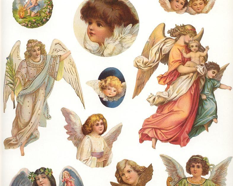 Images d 39 autrefois planche d couper anges pour for Autrefois home decoration