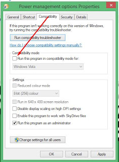 running Windows 8 compatibility mode