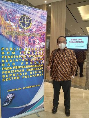 Undangan perubahan tema Publik Hearing tentang NSPK berbasis resiko Bidang Pelayaran
