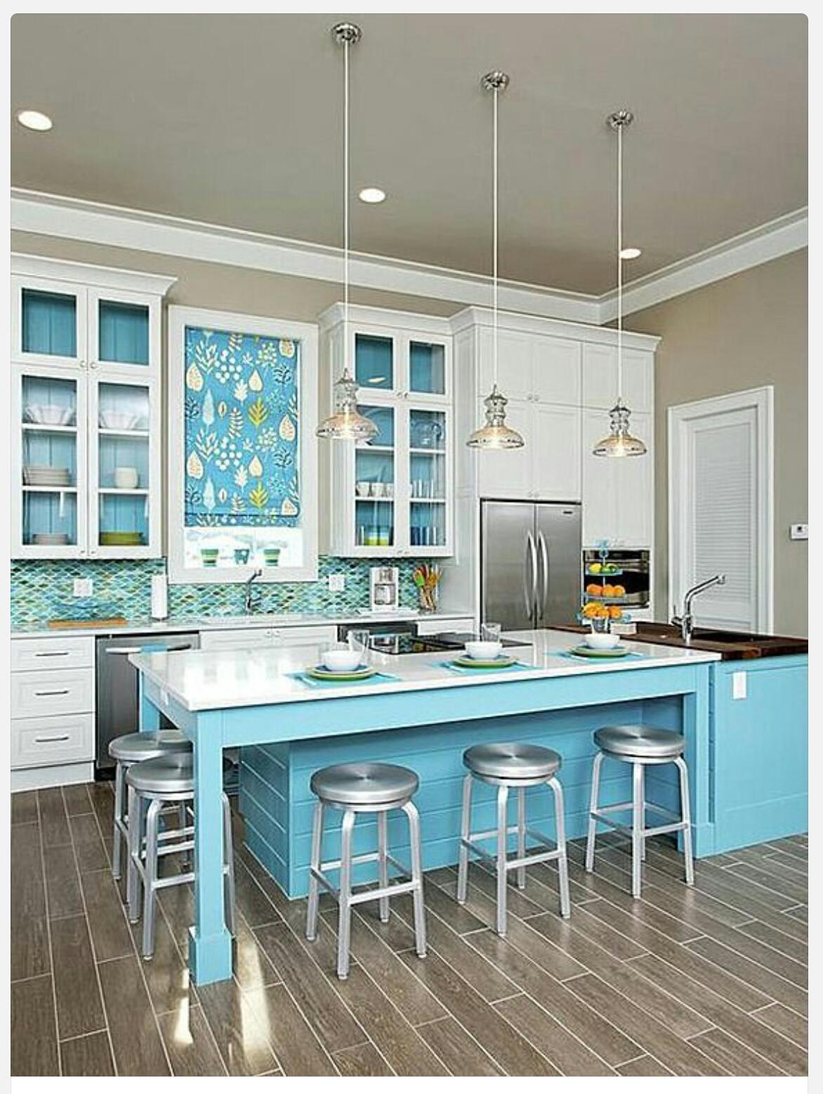 #3C828F  vida Criativa: Decoração : Cozinha Azul para inspirar e sonhar 1172x1557 px A Cozinha Mais Recente Projeta Fotos_836 Imagens