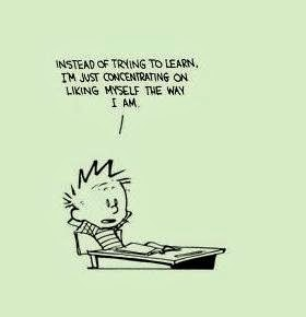 nice advice from Calvin