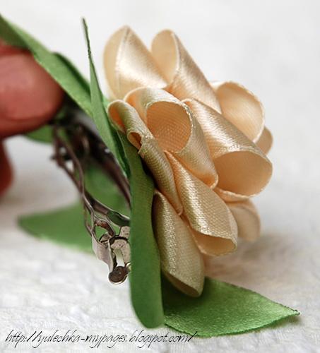 Бабочка своими руками из атласной ленты