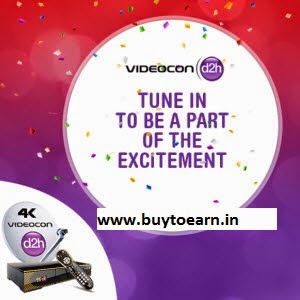 Videocon d2h with Free Subscription with Extra 15% off from Rs. 1216