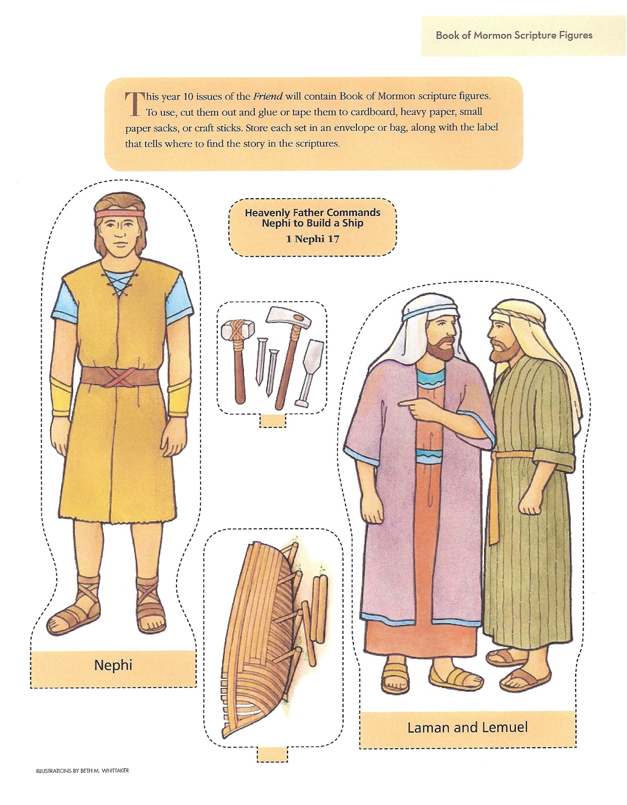 Nephi's Courage Coloring Page http://murrayandmathews.blogspot.com/2011/05/primary-3-lesson-18.html
