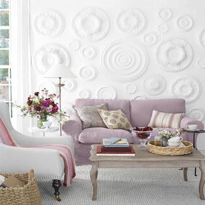 D coration romantique en pastel d cor de maison for Decoration romantique