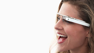 Smiling Girl with Google Glasses HD Desktop Wallpaper