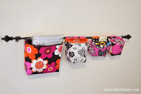 DIY Hanging Fabric Storage Baskets