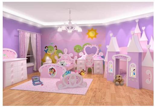 Dormitorios de princesas disney fotos de dormitorios - Decoracion habitacion de nina ...