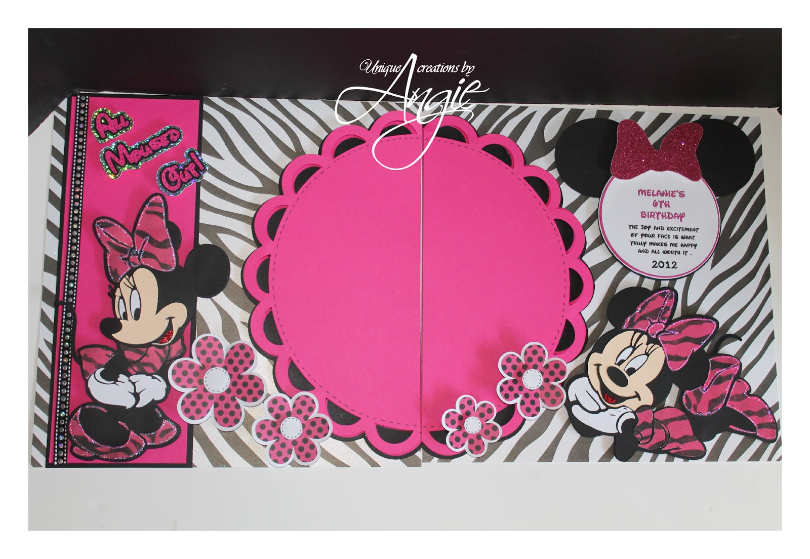 Scrappin Memories Minnie Mouse Scrapbook Layout