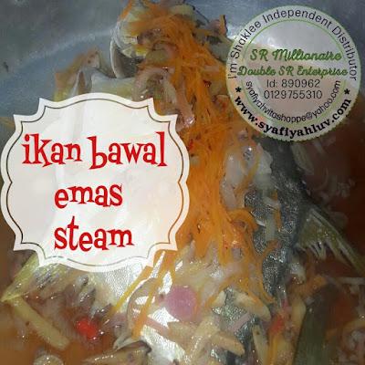 resepi ikan bawal emas steam