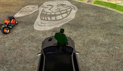 Mod Lampu Mobil dan Motor Troll Face