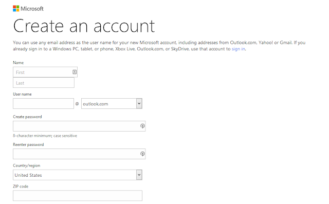 Hotmail Sign Up | Create A Hotmail Account