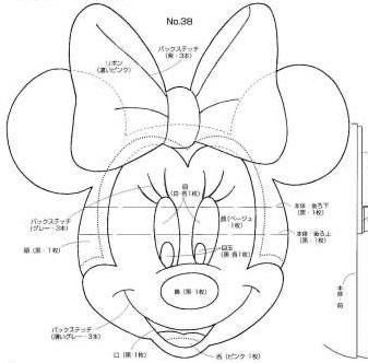 Molde Minnie E Mickey Para E V A