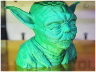 3D Yazıcı ile üretilmiş Yoda