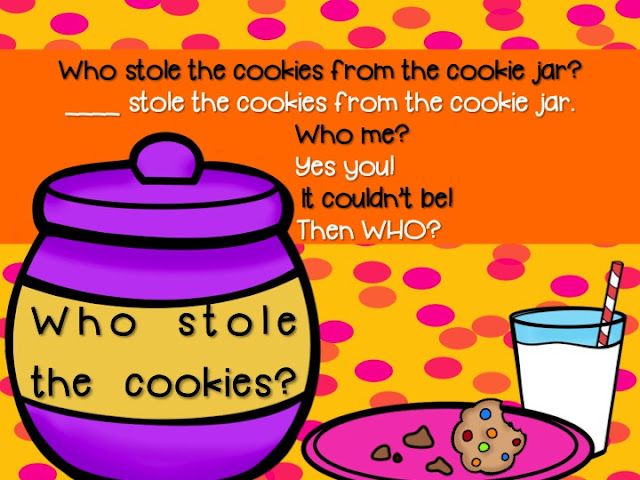 Who Stole The Cookie From The Cookie Jar Song Extraordinary Who Stole The Cookies From The Cookie Jar Activity Freebie
