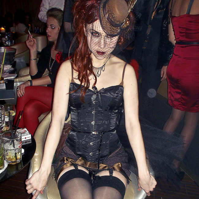 Fashionrolla Halloween 2012 costume. Vampire Saloon Bimbo