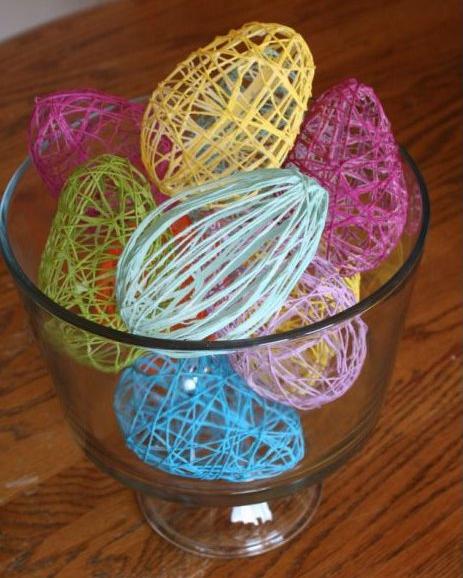 Inspired by pinterest string easter eggs