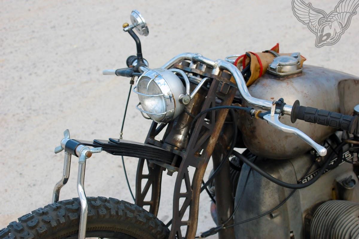 bmw bobber leaf spring front end detail | fna custom cycles