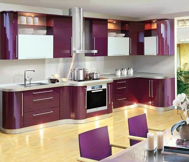 Luxury Italian kitchen designs, ideas 2015, sets, Italian purple kitchens