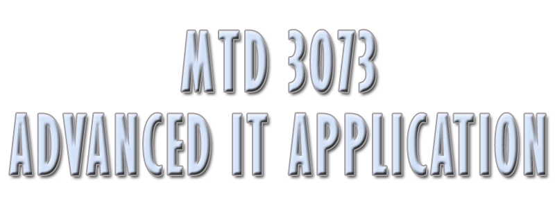 MTD 3073 - Advanced IT Application
