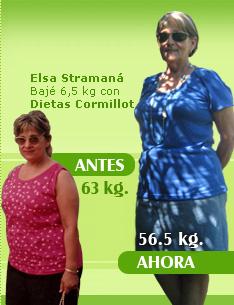 bajar 6 kilos 63 kilos 56 kilos plan cormillot antes y despues