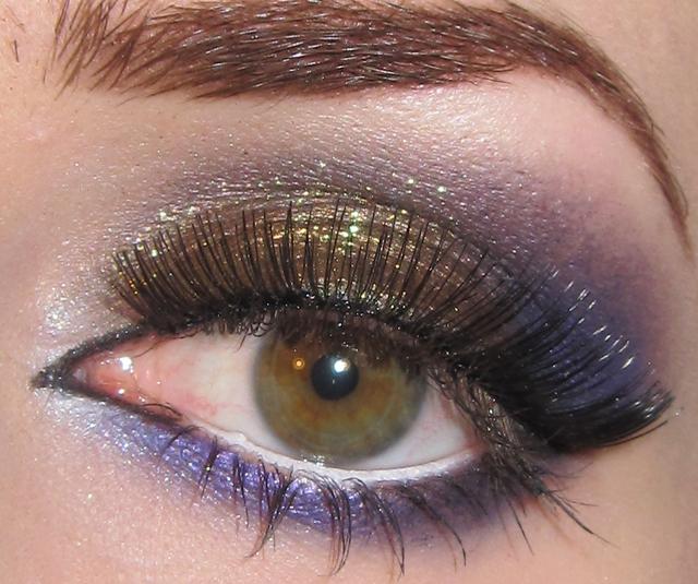 Glitter Is My Crack Purple And Golden Brown Eye Makeup Tutorial