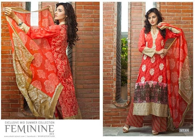 Fiminine Mid Summer collection 2013 by Shariq Textiles