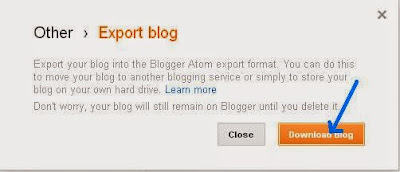 How to export a blog - BloggingFunda