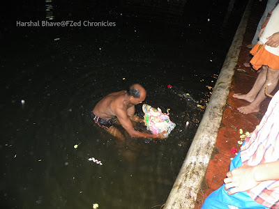 Ganesha Chaturthi visarjan in a village in Goa, Maharashtra