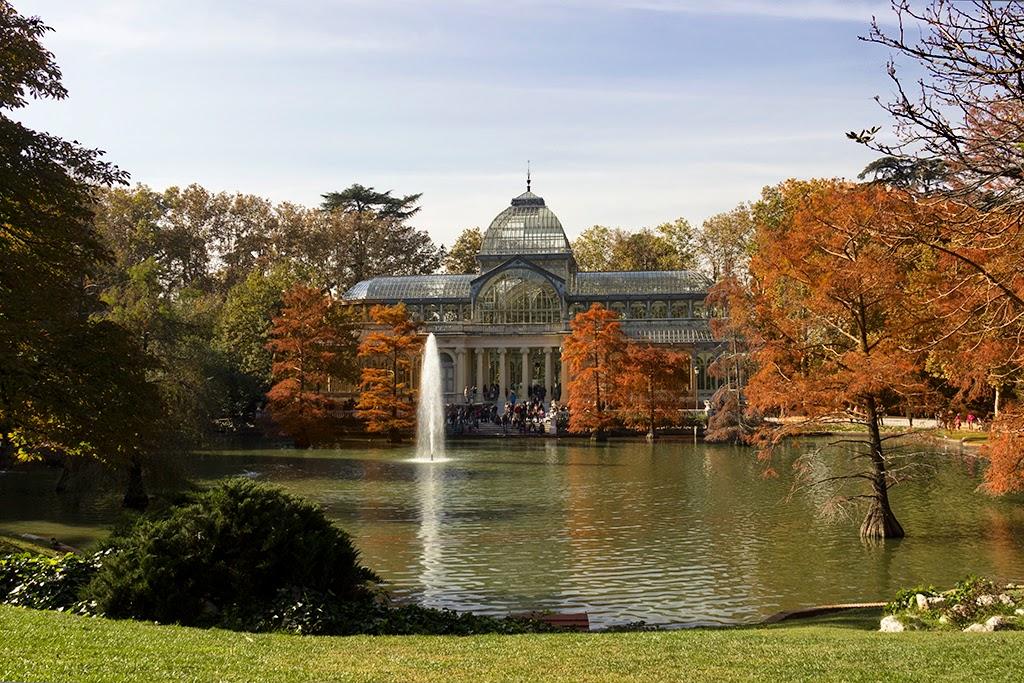 fotografía palacio de cristal El Retiro Madrid otoño