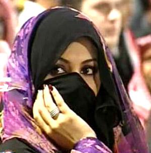Saudi Arab girls in hijab
