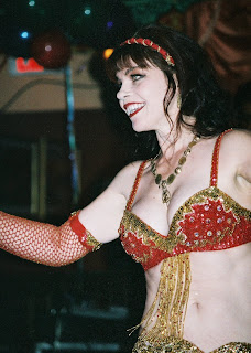red bellydance costume