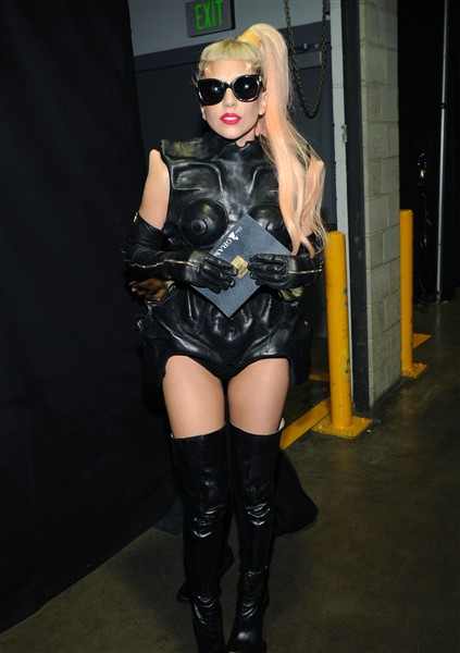 Lady+gaga+grammys+outfit+2011 Comment on poker face feb facial horns