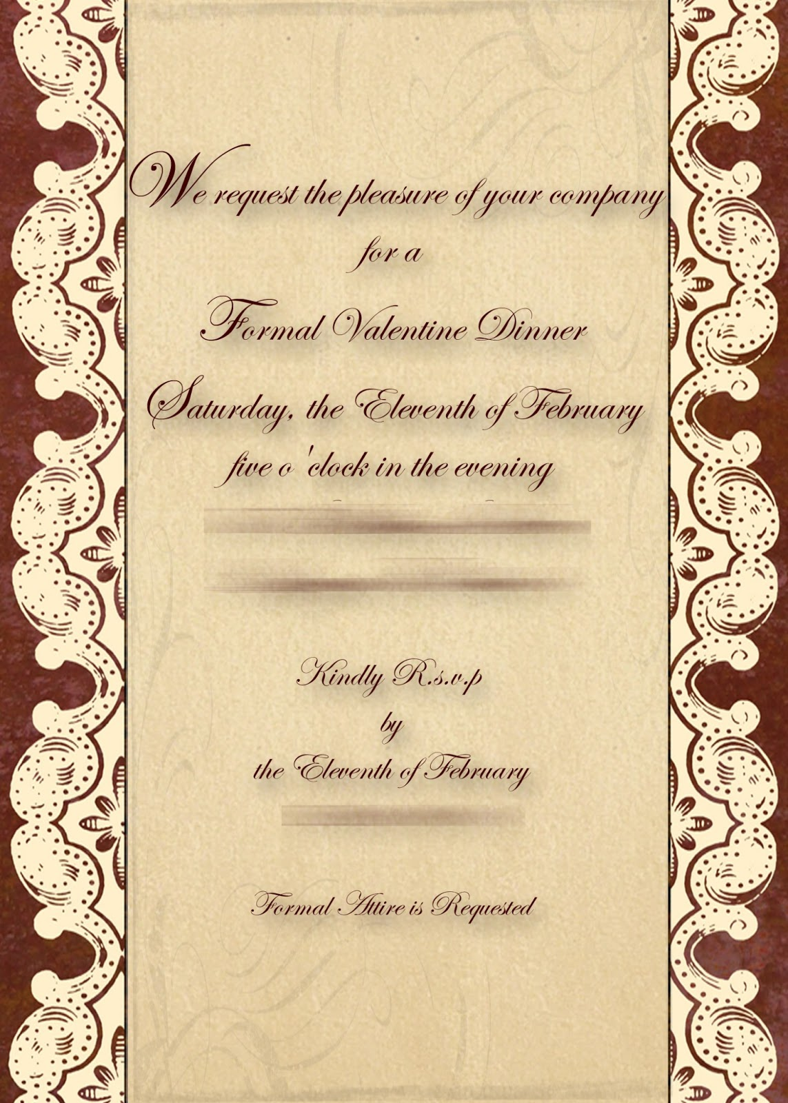 Menu Templates for Dinner . Find contracts for will Free Formal Dinner ...