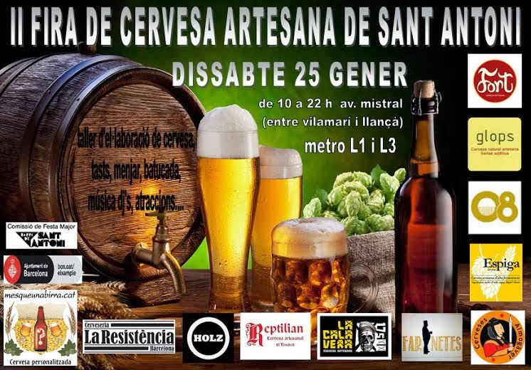 Segunda Feria de cervezas artesanas del barrio de Sant Antoni