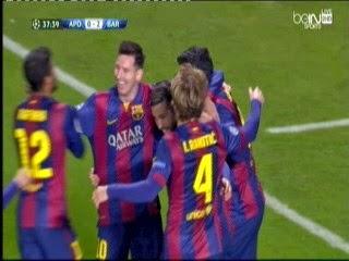 اهداف مباراة برشلونة وابويل -4-0 دورى ابطال اوربا 25-11-2014