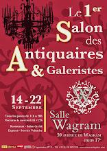PARIS 17ème SALLE WAGRAM : L. LE FLOCH EXPOSE CAPTON AU SALON DES ANTIQUAIRES ET GALERISTES
