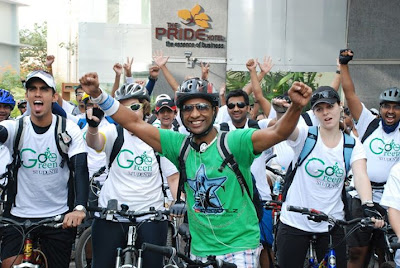 Go cycling go green Volume 1 flag off