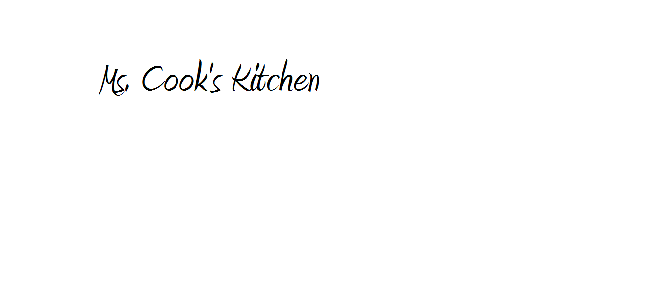 Ms.Cook's Kitchen