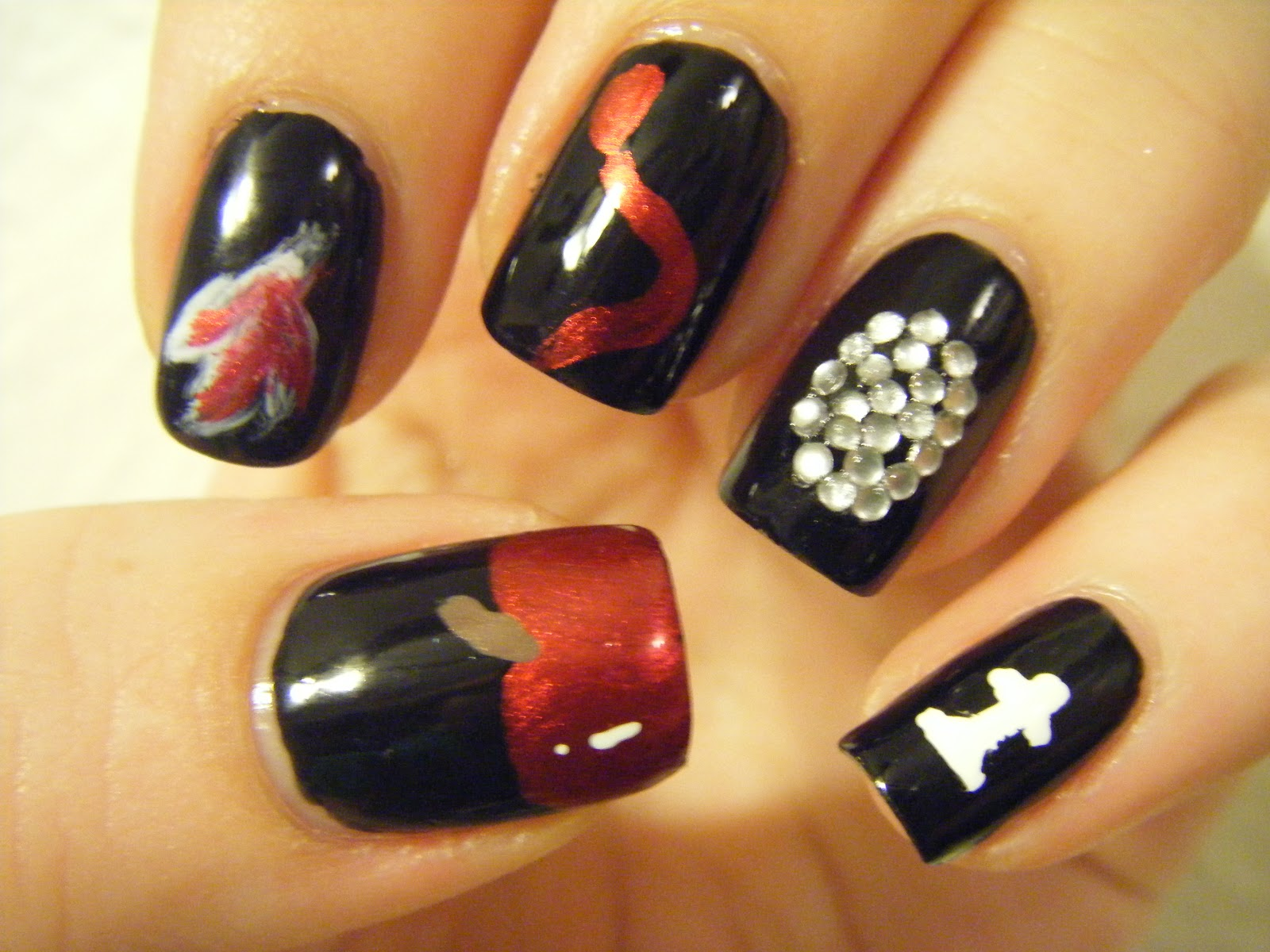 No Nekkid Nails Twilight Saga Themed Mani