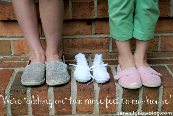 Creative Pregnancy Announcement Photo with Kids, at Serenity Now blog