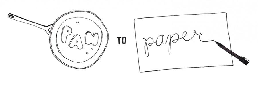 pan to paper