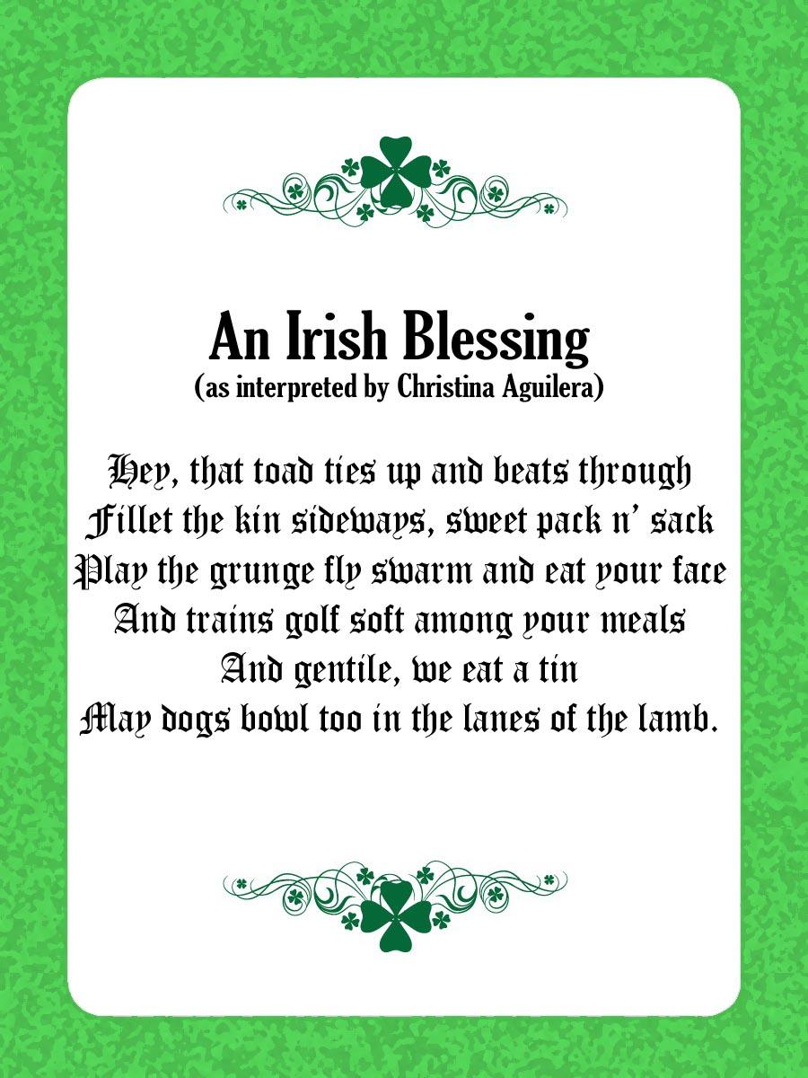 irish prayer may the road rise up to meet you lyrics