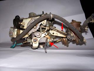Acionamento Mecânico do Segundo estágio do carburador 2E7 Molaemec
