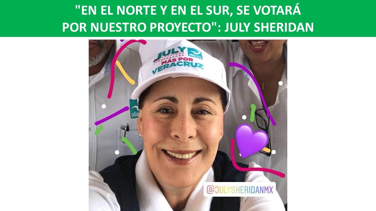 """SE VOTARÁ POR NUESTRO PROYECTO"""": JULY SHERIDAN"""