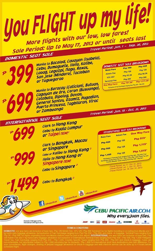 Cebu Pacific Promo Fare 2013