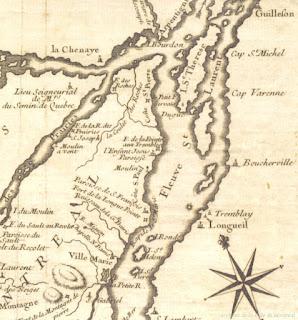 Ile de Montreal in 1744