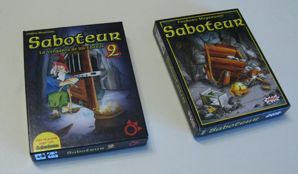 Cajas de Saboteur y Saboteur 2